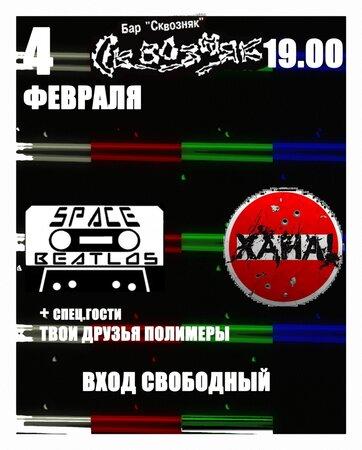 Space Beatlos, ХанА!, Твои друзья полимеры концерт в Самаре 4 февраля 2016