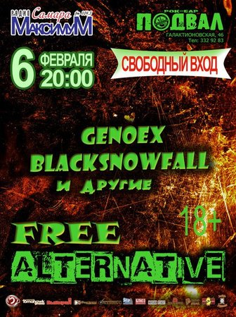 Free Alternative концерт в Самаре 6 февраля 2016