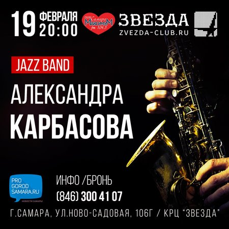 Александр Карбасов концерт в Самаре 19 февраля 2016