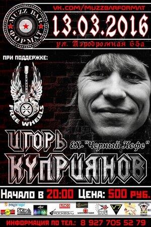 Игорь Куприянов концерт в Самаре 13 марта 2016