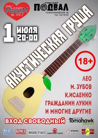 Акустическая Груша концерт в Самаре 1 июля 2016