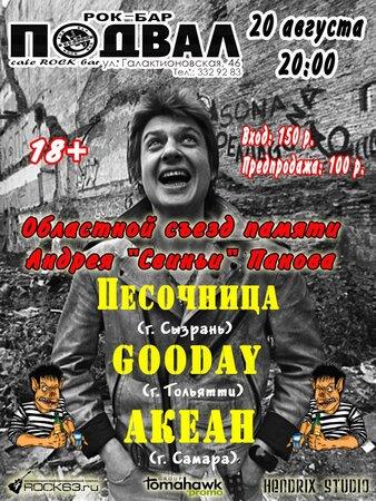 Концерт памяти Андрея Панова концерт в Самаре 20 августа 2016