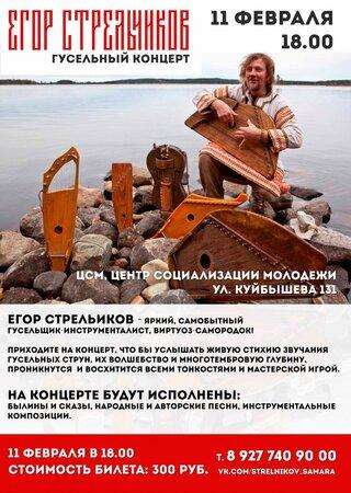Егор Стрельников концерт в Самаре 11 февраля 2017