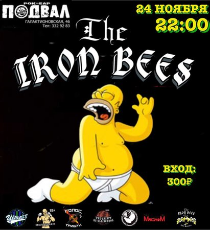 The Iron Bees концерт в Самаре 24 ноября 2018