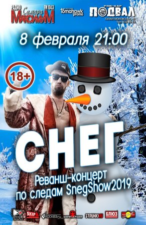 Сергей Снеговский концерт в Самаре 8 февраля 2019
