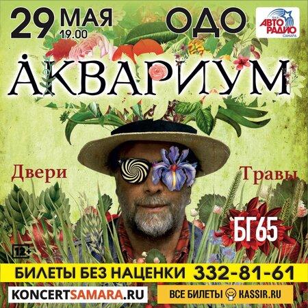 Аквариум концерт в Самаре 29 мая 2019