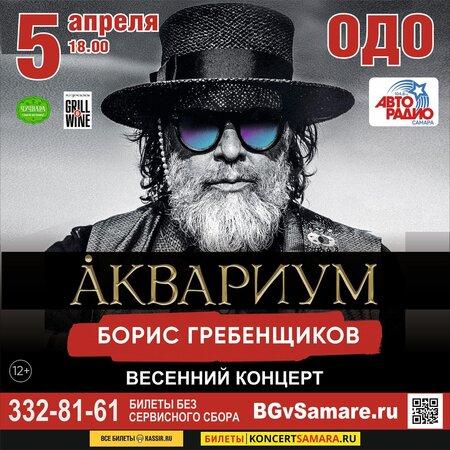 Борис Гребенщиков концерт в Самаре 5 апреля 2020
