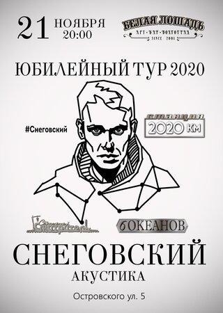 Сергей Снеговский концерт в Самаре 21 ноября 2020